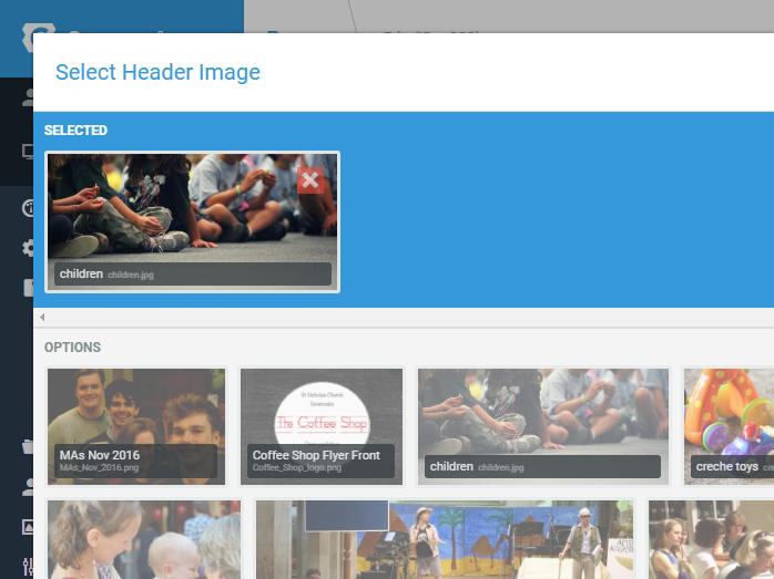 image selector overlay